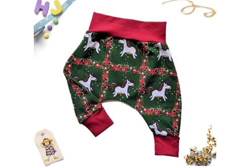 Click to order 0-3m Harems Tartan Unicorns now