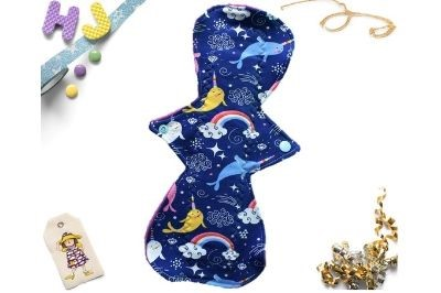 Buy  Single Cloth Pad Narwhals now using this page