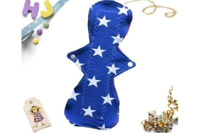 Buy  Single Cloth Pad Royal Blue Stars now using this page