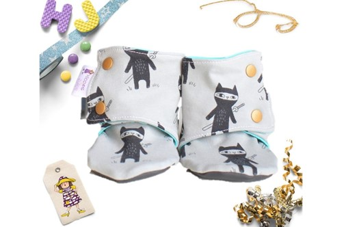 Click to order 12-18m Summer Stay on Booties Ninja Cats now