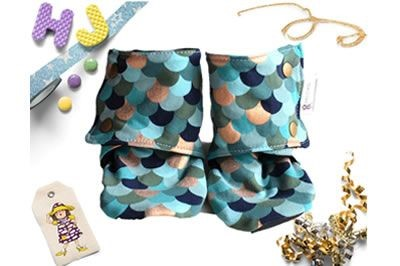 Click to order 18-24m Summer Stay on Booties Teal Scales now