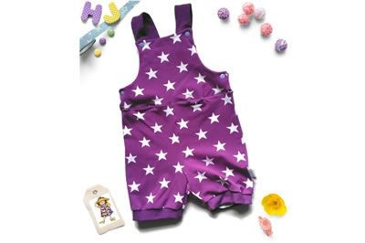 Buy 18m Pitter Romper Purple Stars now using this page