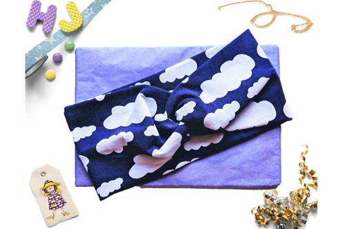 Click to order  Faux Twist Headband Purple Clouds now