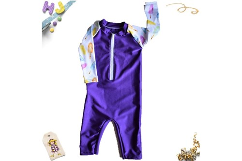 Click to order 6-12m Swim Romper Lollies Swim now
