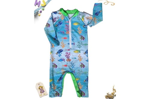 Click to order 6-12m Swim Romper Reef Life now