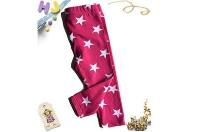 Click to order 6m Children's Leggings Hot Pink Stars now