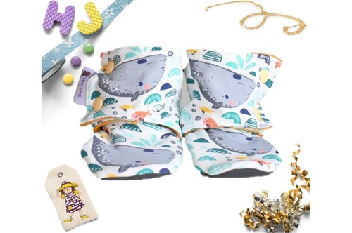 Click to order 9-12m Summer Stay on Booties Whales now