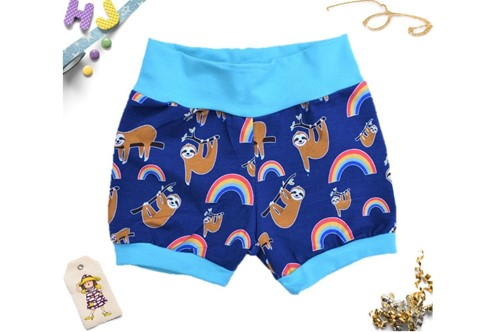 Click to order Age 2-3 Cuff Pants Sloths and Rainbows now