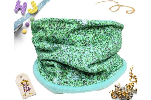 Click to order Age 1-4 Snood Green Glitter now