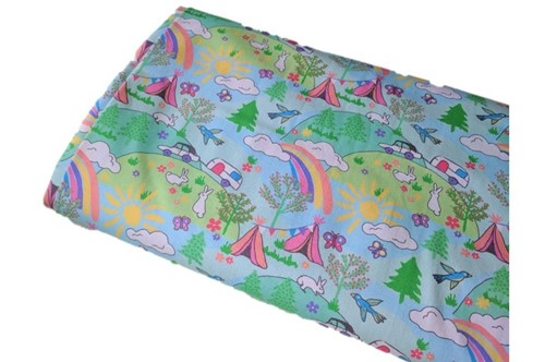Click to order custom made items in the Happy Camping fabric