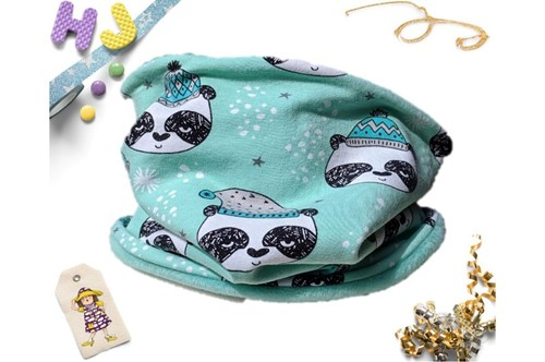 Click to order Age 1-4 Snood Mint Pandas now