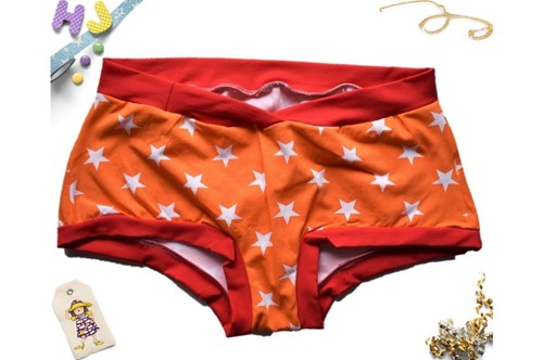 Click to order XXL Boyshorts Orange Stars now