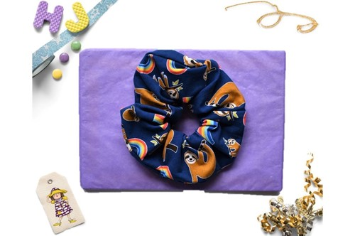 Click to order  Scrunchies Sloths and Rainbows now