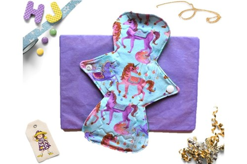 Click to order  Single Cloth Pad Unicorn Drops Light now