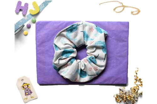Click to order  Scrunchies Watercolour Narwhals now