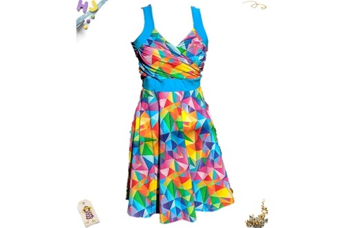 Twirly juice dress available at Hiccups & Juice