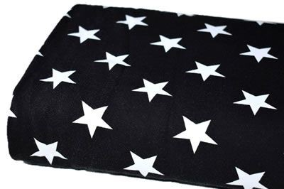 Click to order custom made items in the Black Stars fabric