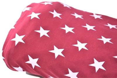 Click to order custom made items in the Bordeux Stars fabric