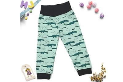 Click to order 12-18m Cuff Pants Green Crocodiles now