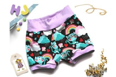 Click to order 9-12m Cuff Pants Rainbow Cats now