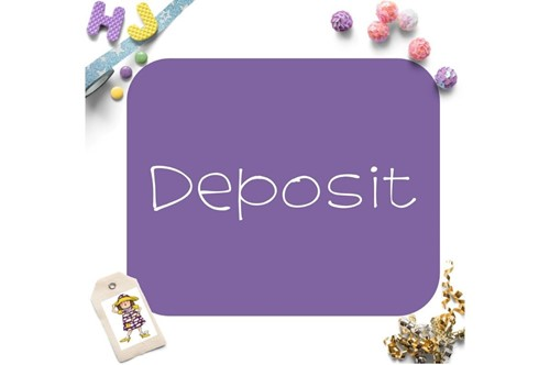 Order Deposit to be custom made on this page