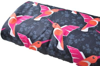 Click to order custom made items in the Hummingbirds (French Terry) fabric