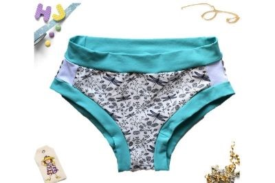 Buy L Briefs White Dragonflies now using this page