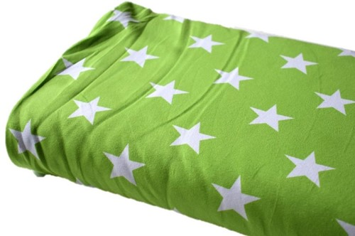 Click to order custom made items in the Light Green Stars fabric