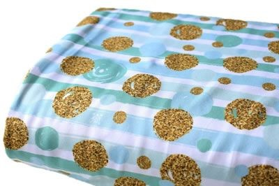 Click to order custom made items in the Mint Gold Bubbles Swim fabric