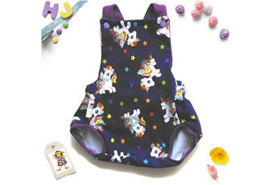 Click to order Newborn Summer Romper Unicorns now