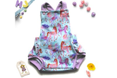 Click to order Newborn Summer Romper Unicorn Drops Light now