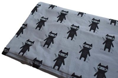 Click to order custom made items in the Ninja Cats fabric