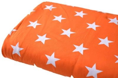 Click to order custom made items in the Orange Stars fabric