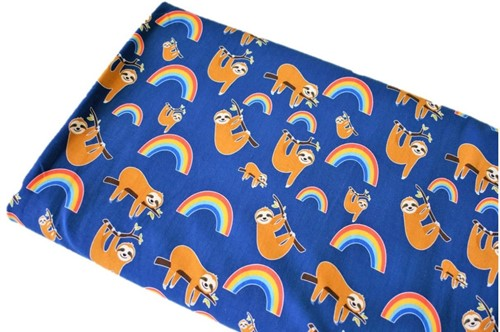 Click to order custom made items in the Sloths and Rainbows fabric