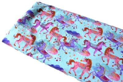Click to order custom made items in the Unicorn Drops Light fabric