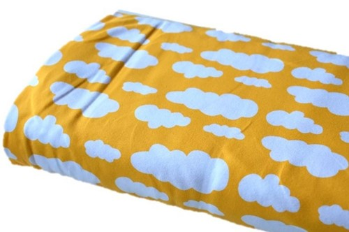 Click to order custom made items in the Yellow Clouds fabric